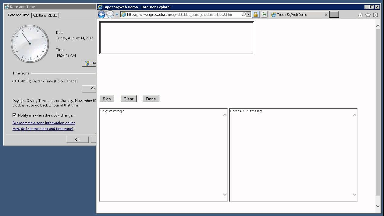 Topaz signature pad issue on IE demo-2