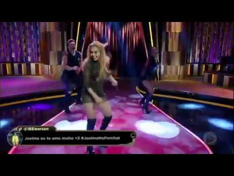 Joelma Canta, Dança E Encanta No Palco Do Programa Do Porchat