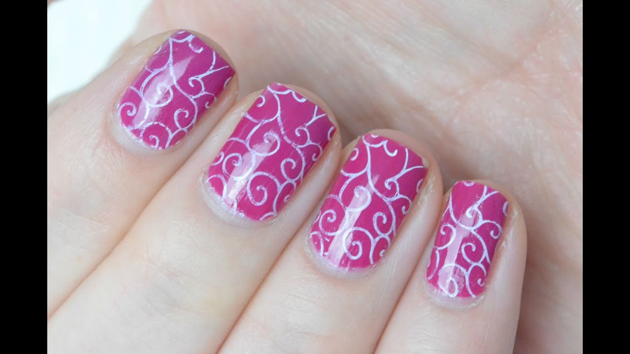 herfst swirl nail art