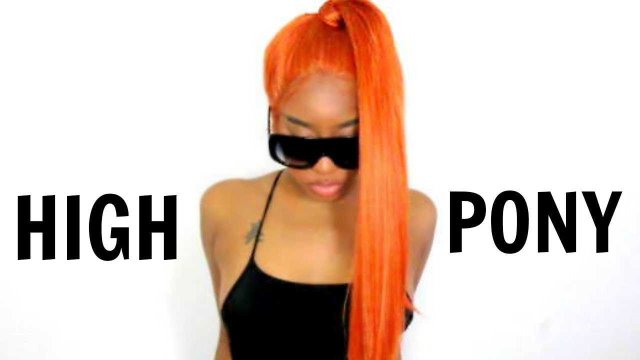 HOW TO: PUT YOUR CHEAP SYNTHETIC WIG INTO A HIGH PONYTAIL! FT. (EVAHAIR.COM)