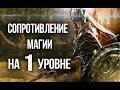 Skyrim Сопротивление магии в начале игры СЕКРЕТ СОПРОТИВЛЕНИЯ МАГИИ