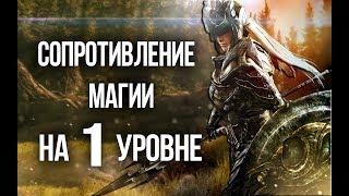 Skyrim Максимальное сопротивление магии с 1 уровня