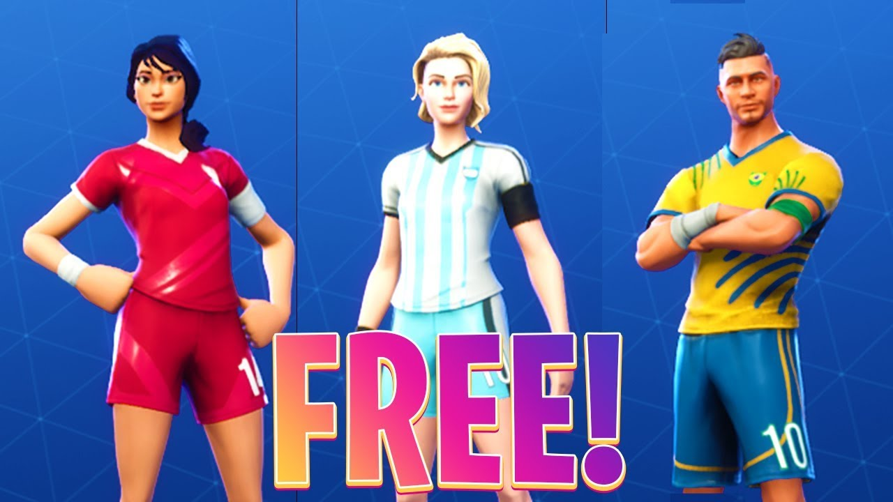 how to get the football skins for free in fortnite battle royale free 100 v bucks giveaway - how to get football skins in fortnite for free