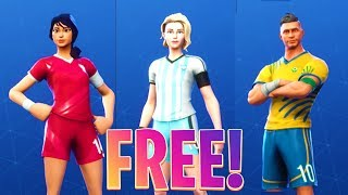 HOW TO GET THE FOOTBALL SKINS FOR FREE IN FORTNITE BATTLE ROYALE! (FREE $100 V-BUCKS GIVEAWAY)
