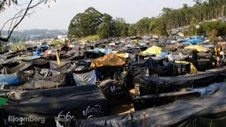 Living As Refugees: A Tent City the World Cup Built