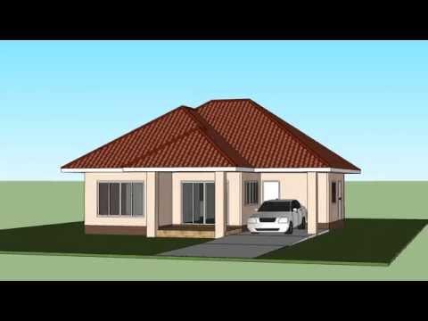 แบบบ้านชั้นเดียวสวยๆ3ห้องนอน2ห้องน้ำ ปลุกสร้างง่ายๆ