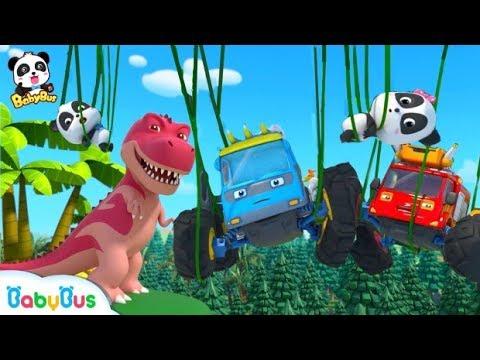 Lạc vào thế giới khủng long   Gấu trúc Kiki và biệt đôi xe quái xế   Nhạc thiếu nhi vui nhộn BabyBus