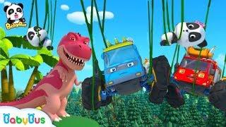 Lạc vào thế giới khủng long | Gấu trúc Kiki và biệt đôi xe quái xế | Nhạc thiếu nhi vui nhộn BabyBus