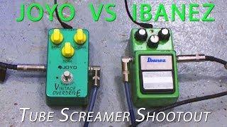 Joyo VS Ibanez Tube Screamer Shootout