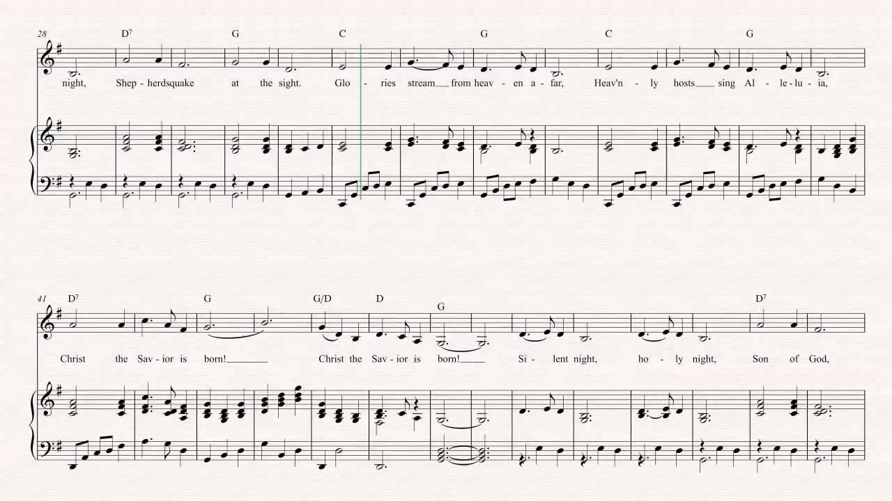 Cornet - Silent Night - Christmas Sheet Music, Chords, & Vocals ...