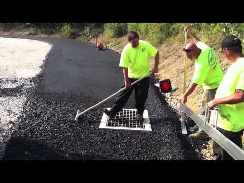 Rake for asphalt and concrete