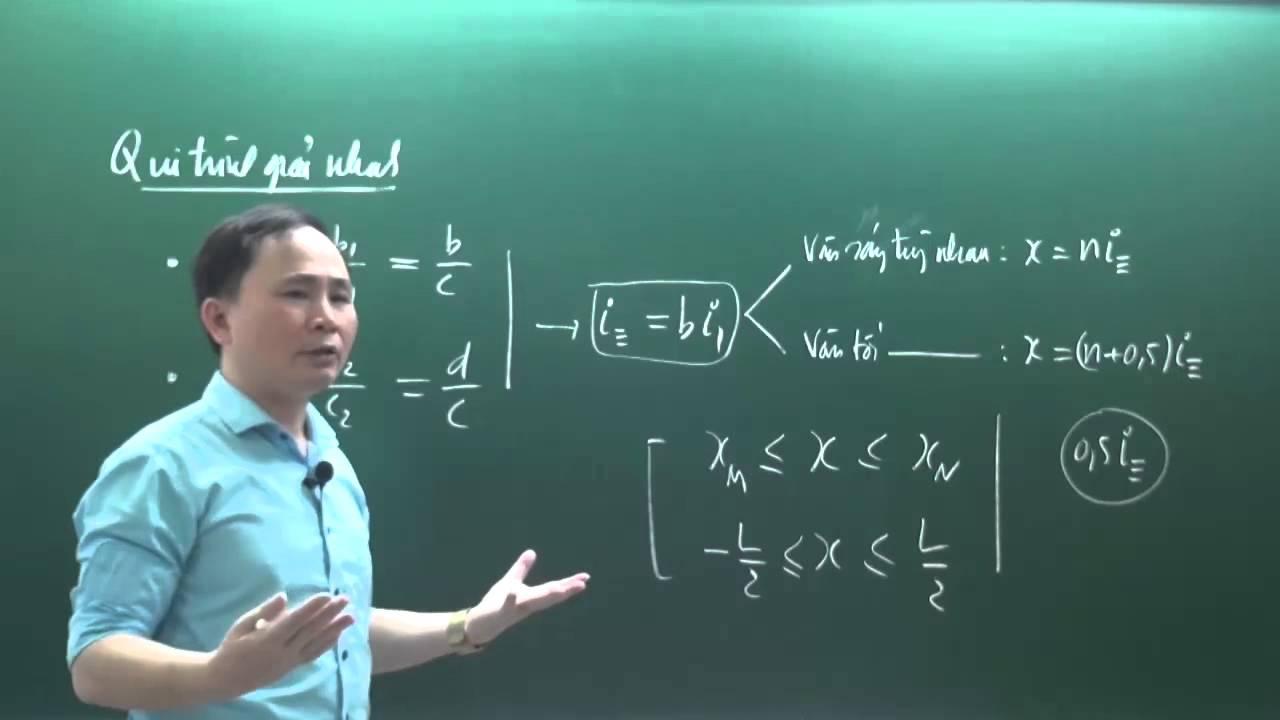 Độc chiêu khoảng vân trùng, giao thoa với 3 bức xạ – Thầy Chu Văn Biên