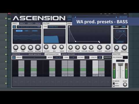 Ascension VST | W.A. Production Edition  | Dance Music Workstation | Presets/Patches Walkthrough