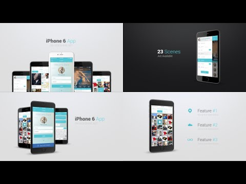 iphone  app presentation kit template  after effects project, Templates