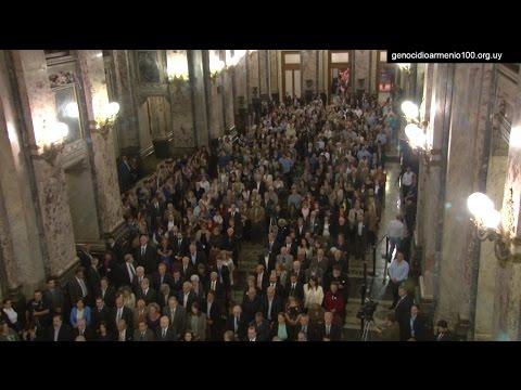 URUGUAY 24 de Abril de 2015 - ACTO CENTRAL de la COMUNIDAD ARMENIA