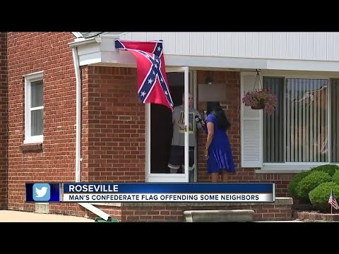 Thumbnail: Metro Detroit man flying confederate flag says 'black people' aren't welcome