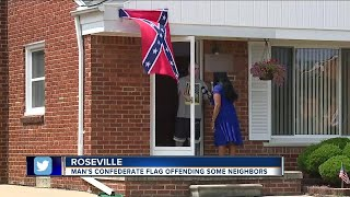 Metro Detroit man flying confederate flag says 'black people' aren't welcome