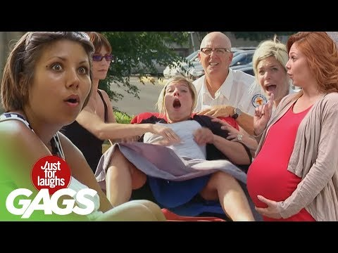 Pregnant Girls Pranks - Best of Just For Laughs Gags