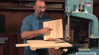 Woodworking Project Tips: Band Saw - Circle Jig On A Bandsaw