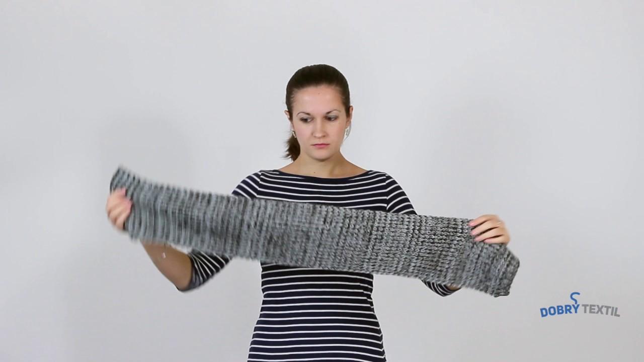 2ad9a81df3d Jak nosit dámskou šálu – DobryTextil.cz - YouTube