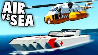 NEW BEST Game Ever! SEA vs AIR Vehicles!  (Stormworks Multiplayer Gameplay)