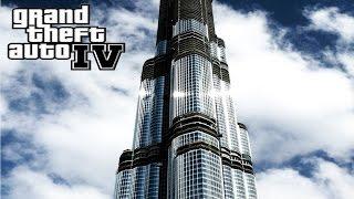 GTA Dubai Burj Khalifa SkyScraper View From Distant, Fly to it