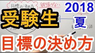 目標の決め方 ~2018夏~【プチ相談】 thumbnail