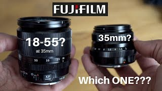 Gambar cover Fujifilm 35mm f2 or the 18 55mm at 35mm? Which Should You Use?