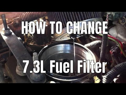 how to: change 7.3l fuel filter - youtube  youtube