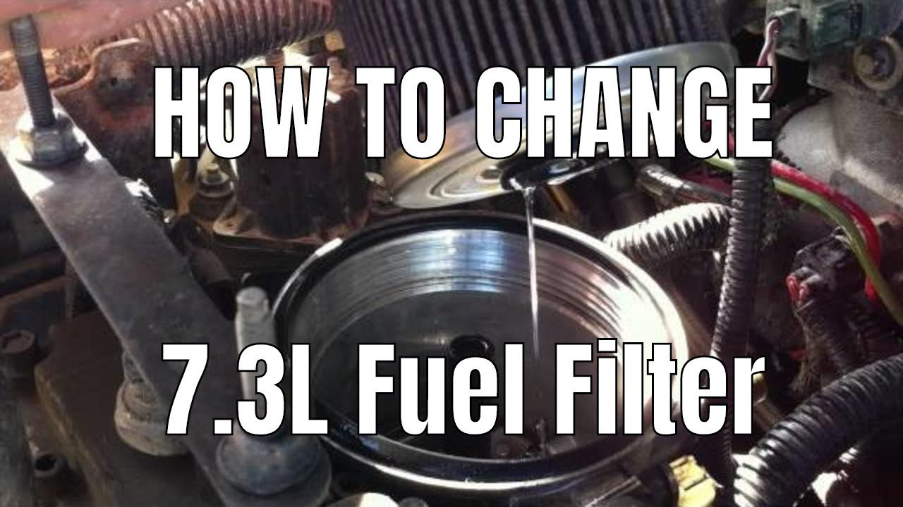73l Psd How To Change Fuel Filter Youtube