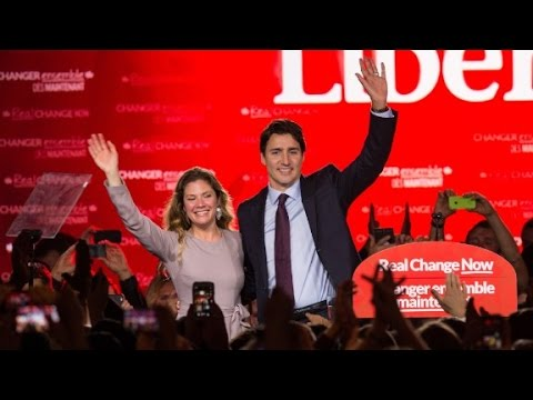 Canada's new PM gets mobbed by female fans