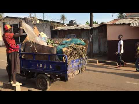 Garbage collection in Freetown, Sierra Leone