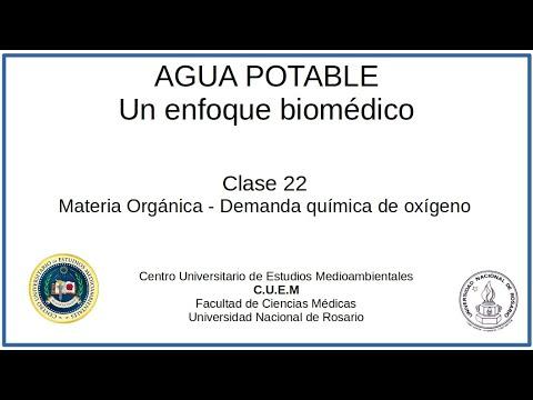 Download El agua potable: Un enfoque biomédico. Clase 22. Materia Orgánica y DQO
