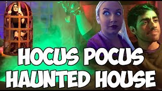 We lit the black flame candle at the Hocus Pocus Haunted House!