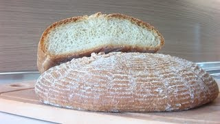 Хлеб Домашний видео рецепт ( Homemade bread)(Сайт канала : http://www.videocooking.ru Рецепт белой булки хлеба Ингредиенты: Мука 750 мл. Сахар 20 г. Соль 1/2 ч.л. Разрыхли..., 2012-06-10T19:29:57.000Z)