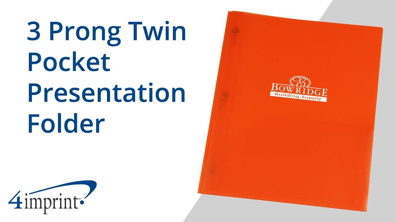 3 Prong Twin Pocket Presentation Folder