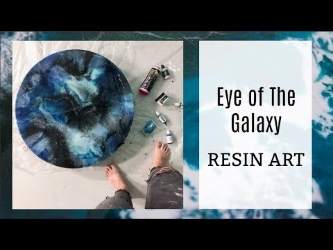 Eye of the Galaxy Resin Art Tutorial