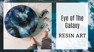 Eye of the Galaxy Resin Art Tutorial