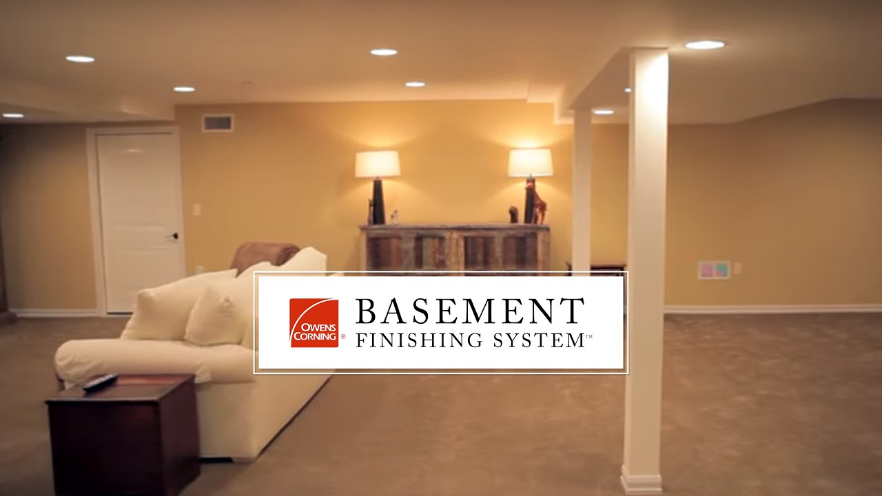 Basement Finishing System Alternative To Drywall YouTube - Drywall for basement