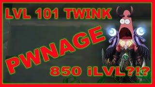 Legion Twinking - 101 Level - Insane Gold Farming / Dungeon Boosting / Fun Potential !
