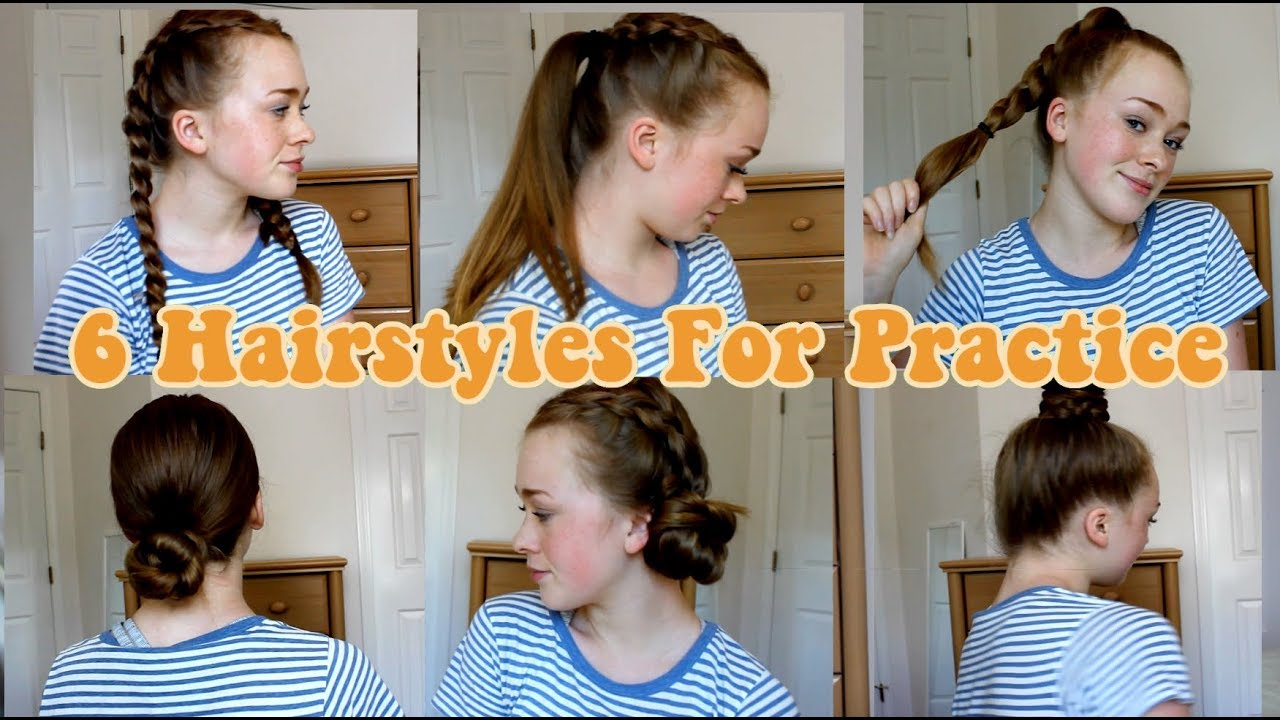 easy hairstyles for practice
