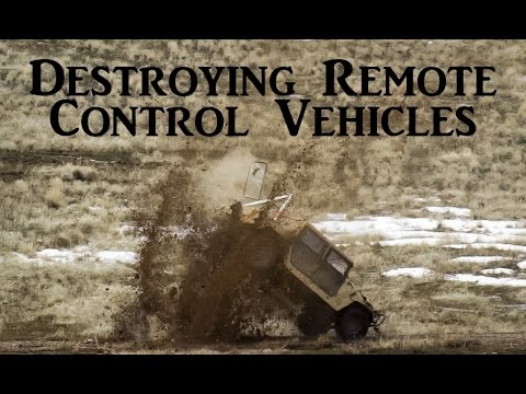 Destroying Remote Control Vehicles