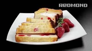 Творожная запеканка с вишней в хлебопечи REDMOND RBM-M1907, рецепт вкусной запеканки