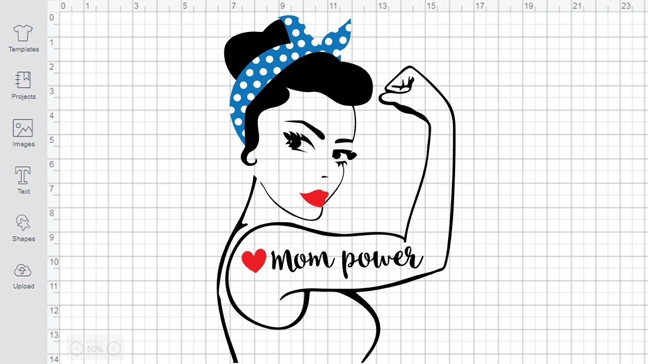 Download Mom Power SVG free Rosie the Riveter svg File for Cricut ...