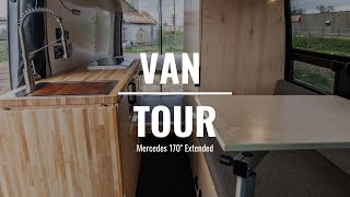 VAN TOUR | Mercedez Sprinter Custom Van Build | Rossmönster Vans