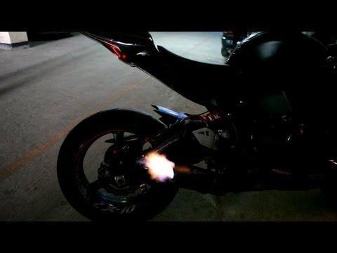 2012 Kawasaki ZX-10R Graves Exhaust Backfire