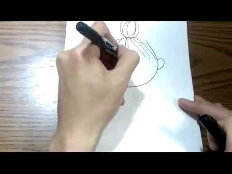 2分以内で一発描きムーミン リトルミイ のゆるいイラスト 絵心ない人
