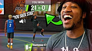 TROLLING SUBSCRIBERS ON THE PARK! TRICKED THEM INTO LETTING ME DROP ALL 21 POINTS! - NBA 2K19 MyPARK