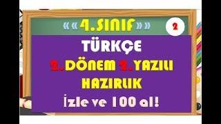 4.Sınıf Türkçe 2.Dönem 2.Yazılı Hazırlık 2-Yardımcı Öğretmen Video