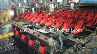 working gloves processing -- Latex safety glove & Nitrile safety gloves